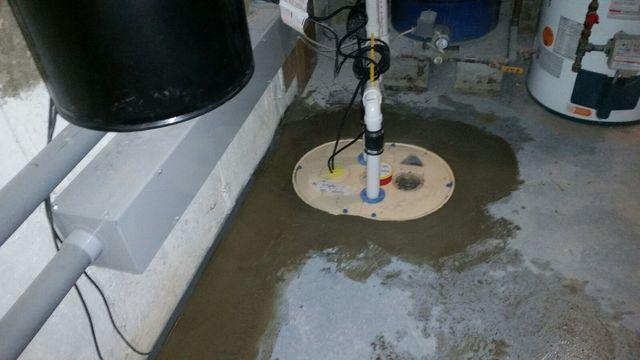 Sump Pump System Installed in East Hampton