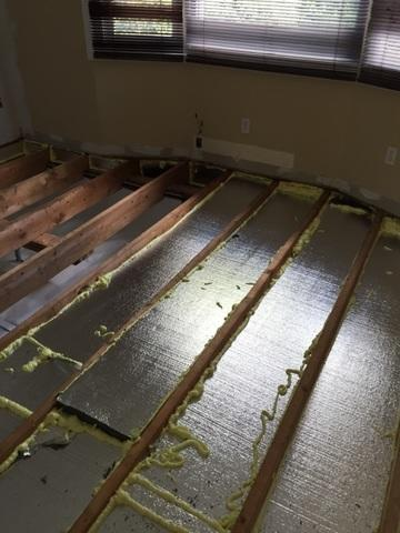 Syosset, NY - Cold Floors Corrected with Insulation in Crawl Space