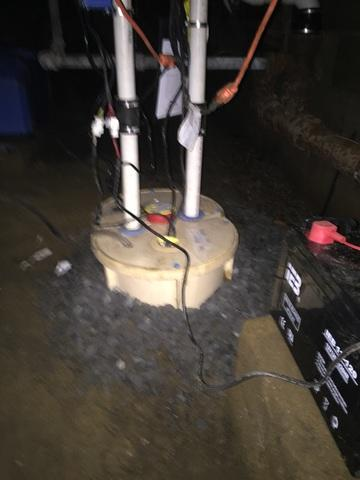 TripleSafe Sump Pump System Installed in Baldwin Crawlspace