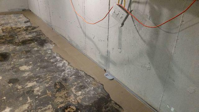 Islip Basement with Ground Water Seepage Fixed with WaterGuard