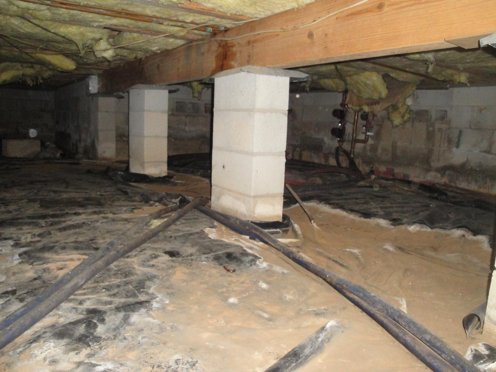 Crawlspace Encapsulation and Storm Water Drainage Solutions in Tallahassee, FL - Before Photo