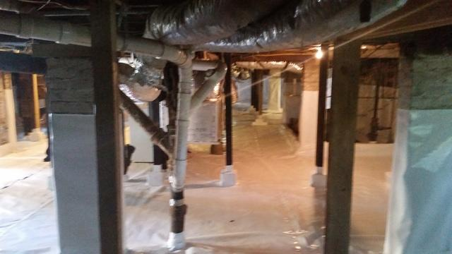 Basement Encapsulation & Waterproofing in Jacksonville, FL - After Photo