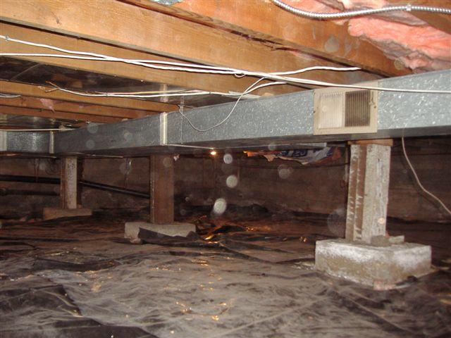 Crawl Space Insulation and Encapsulation in Victoria, Nanaimo, Saanich - Before Photo