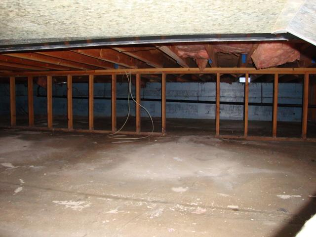 Crawl Space Repair in Victoria, BC! - Before Photo
