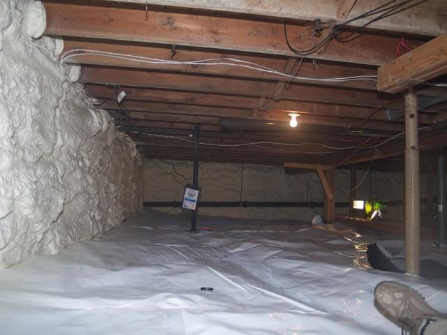 Crawl Space Encapsulation in Nanaimo, BC - After Photo