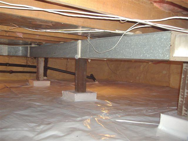Crawl Space Insulation and Encapsulation in Victoria, Nanaimo, Saanich - After Photo
