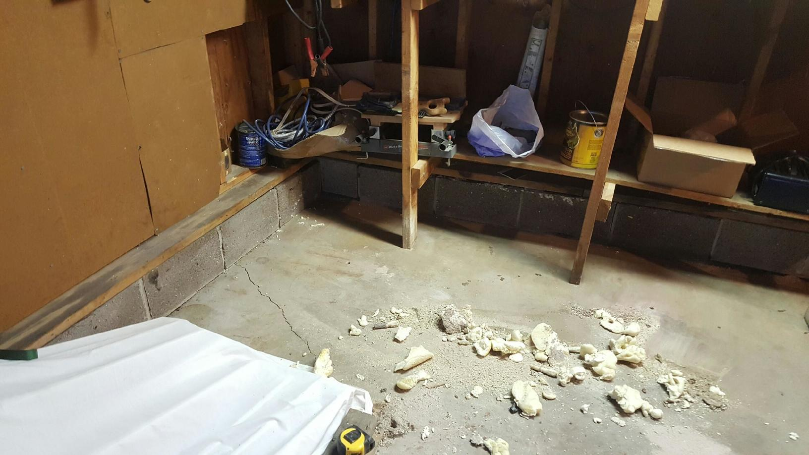 Settling garage floor in Marquette, MI - After Photo