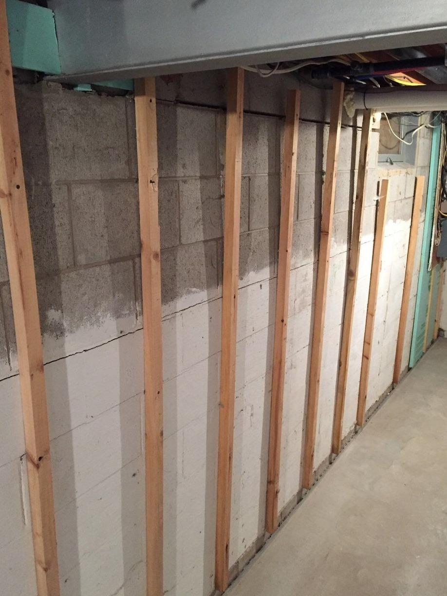CarbonArmor Wall Reinforcement System Installed in Manistique, MI - Before Photo