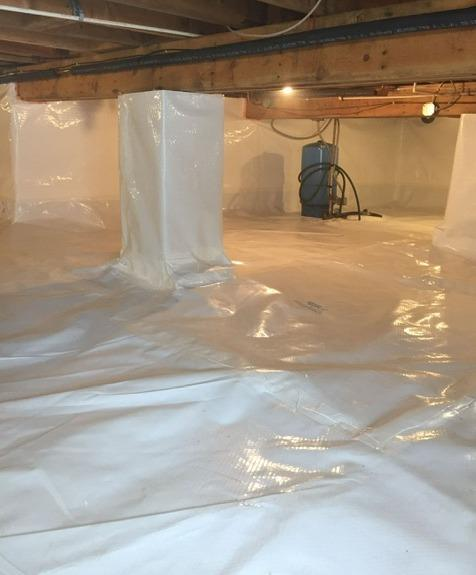 Crawl Space Encapsulated in Rock, MI - After Photo