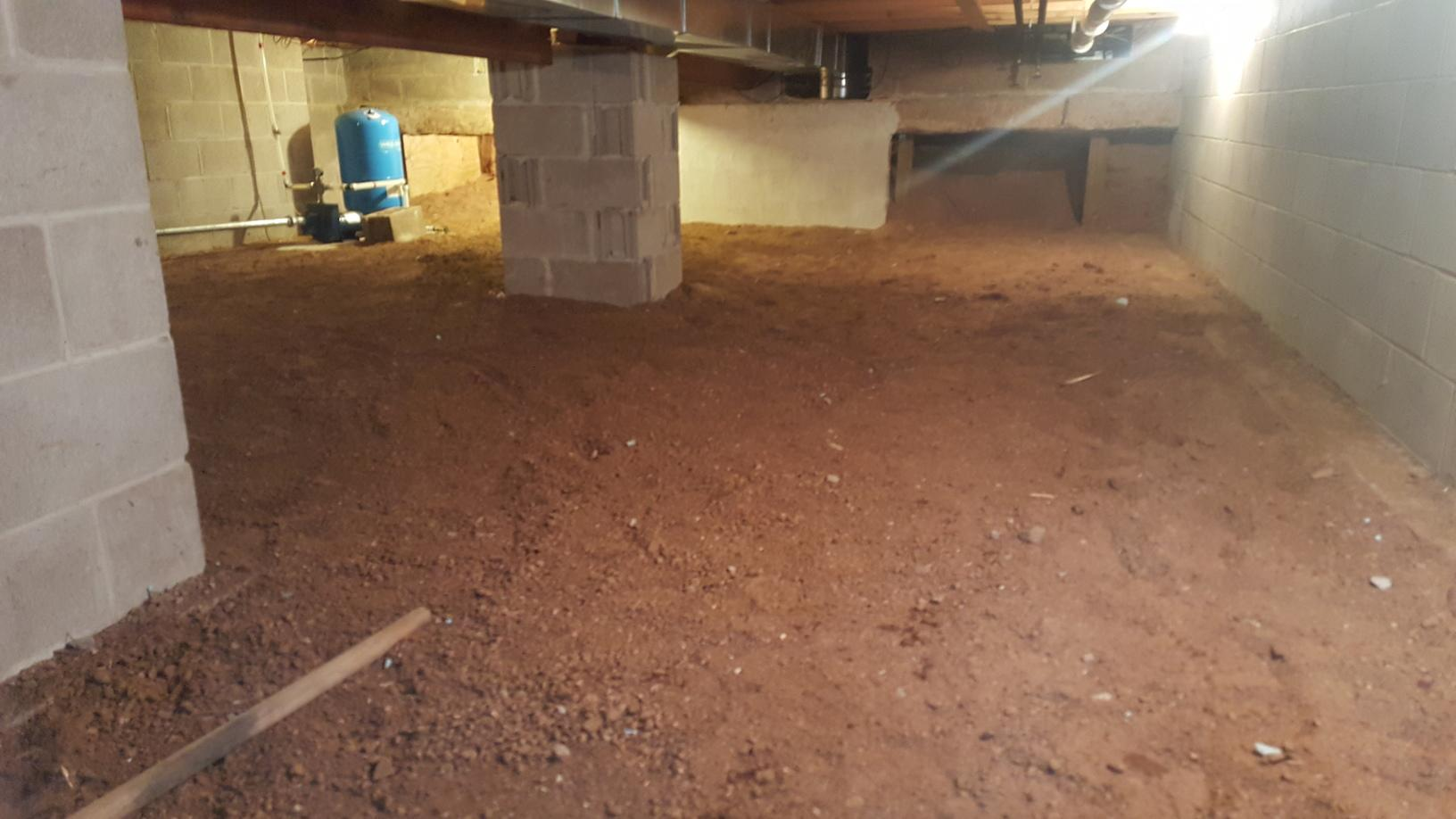 Crawl Space Insulated and Sealed in Lac Du Flambeau, Wisconsin - Before Photo