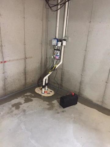 TripleSafe Sump System installed in Three Lakes, WI