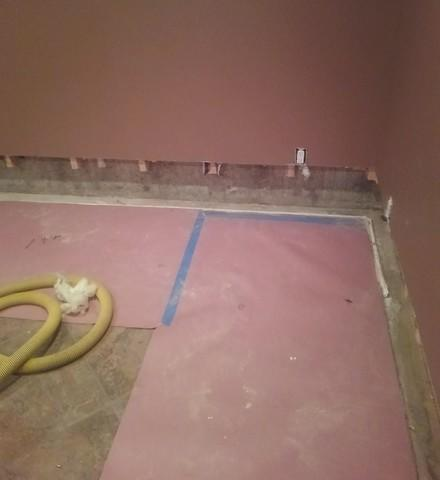 Protecting a Furnished Basement from Water with DryTrak in Hancock, MI
