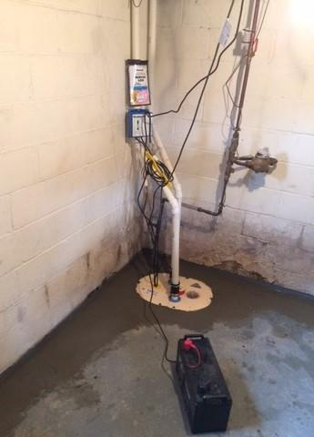 TripleSafe Sump System installed in Negaunee, MI
