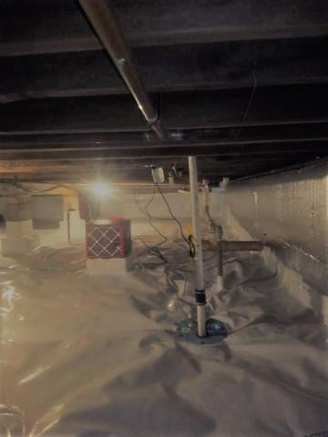 Waterproofing, Insulating & Encapsulating Crawl Space in Marquette, MI