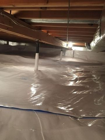 Crawl Space Encapsulation in Dunbar, WI - After Photo