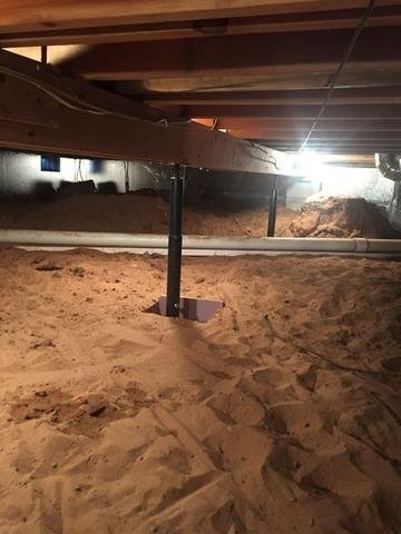 Crawl Space Encapsulation in Dunbar, WI - Before Photo