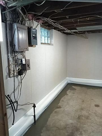 Basement Waterproofing & ZenWall wall system installed in Norway, MI