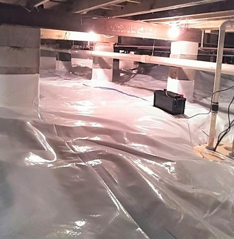 Insulated & Encapsulated Crawl Space in Rhinelander, WI