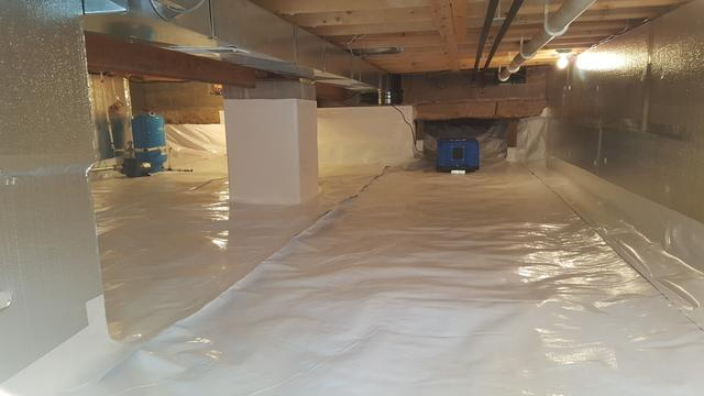 Crawl Space Insulated and Sealed in Lac Du Flambeau, Wisconsin