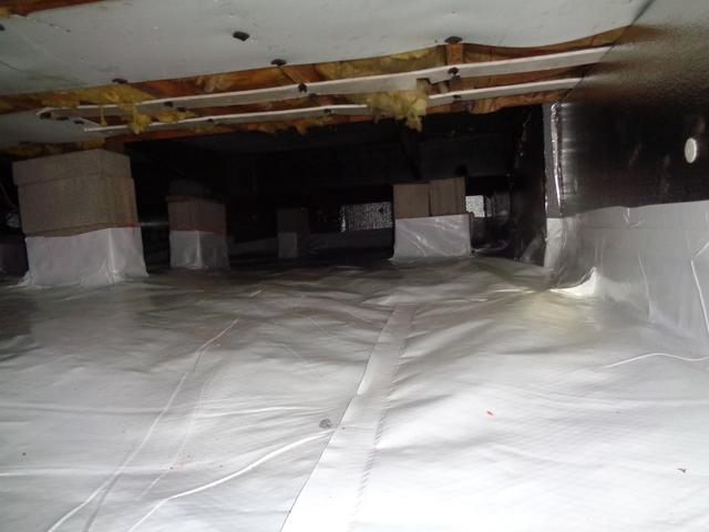 Crawl Space Insulated and Sealed - After Photo