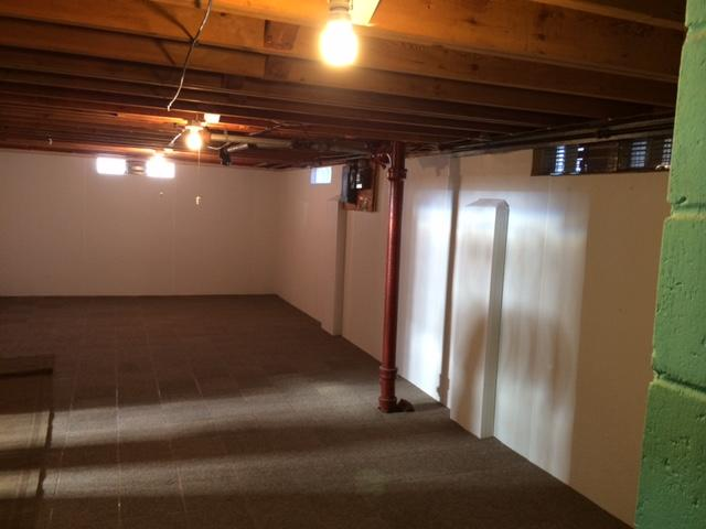 Waterproofing and Brightwall Installation in Wakefield, MI Home
