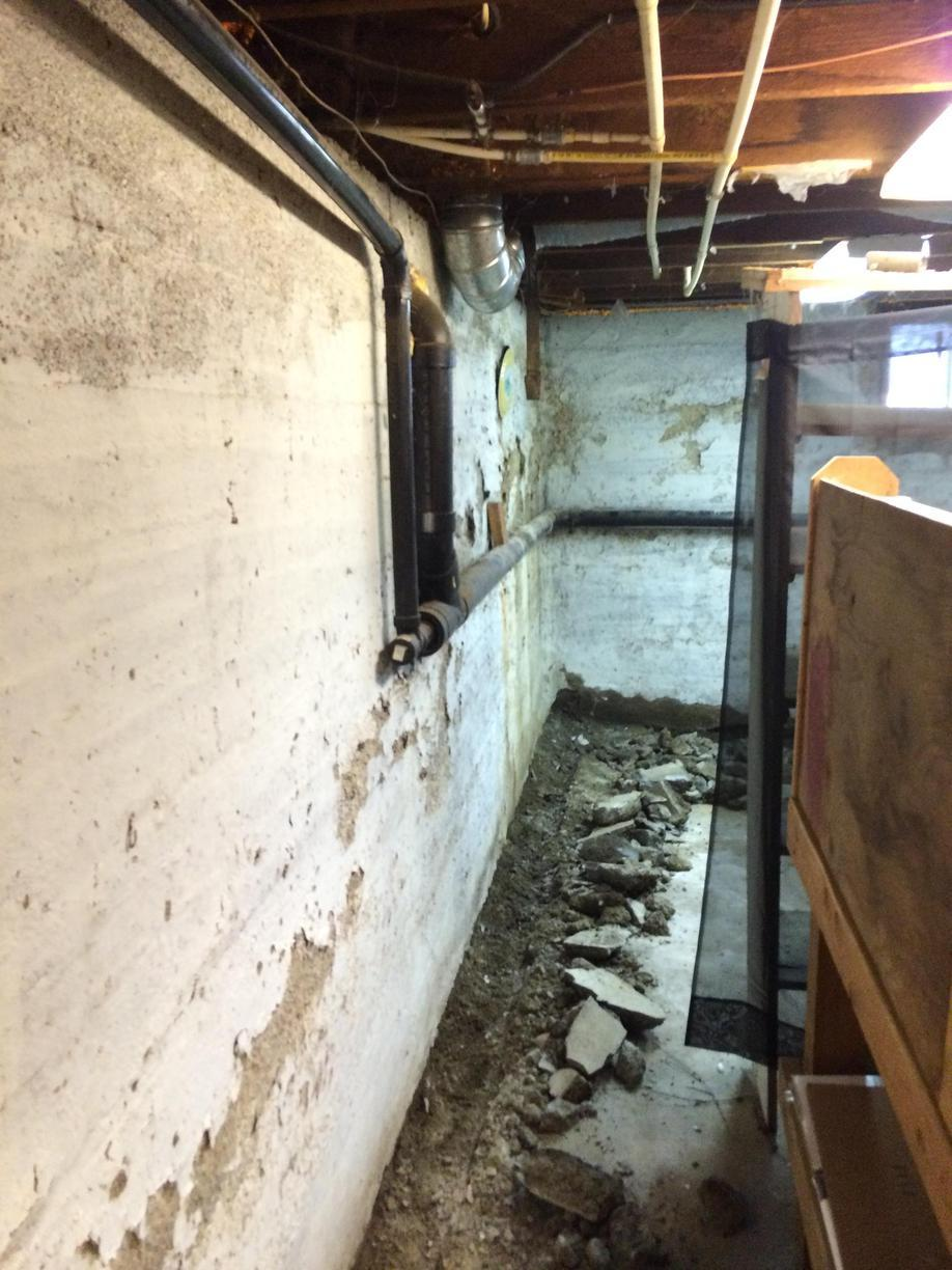 Hood River, OR Basement Repair - Before Photo