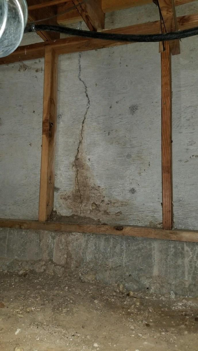 Spray Foam and CleanSpace Job in La Pine, OR Crawl Space - Before Photo