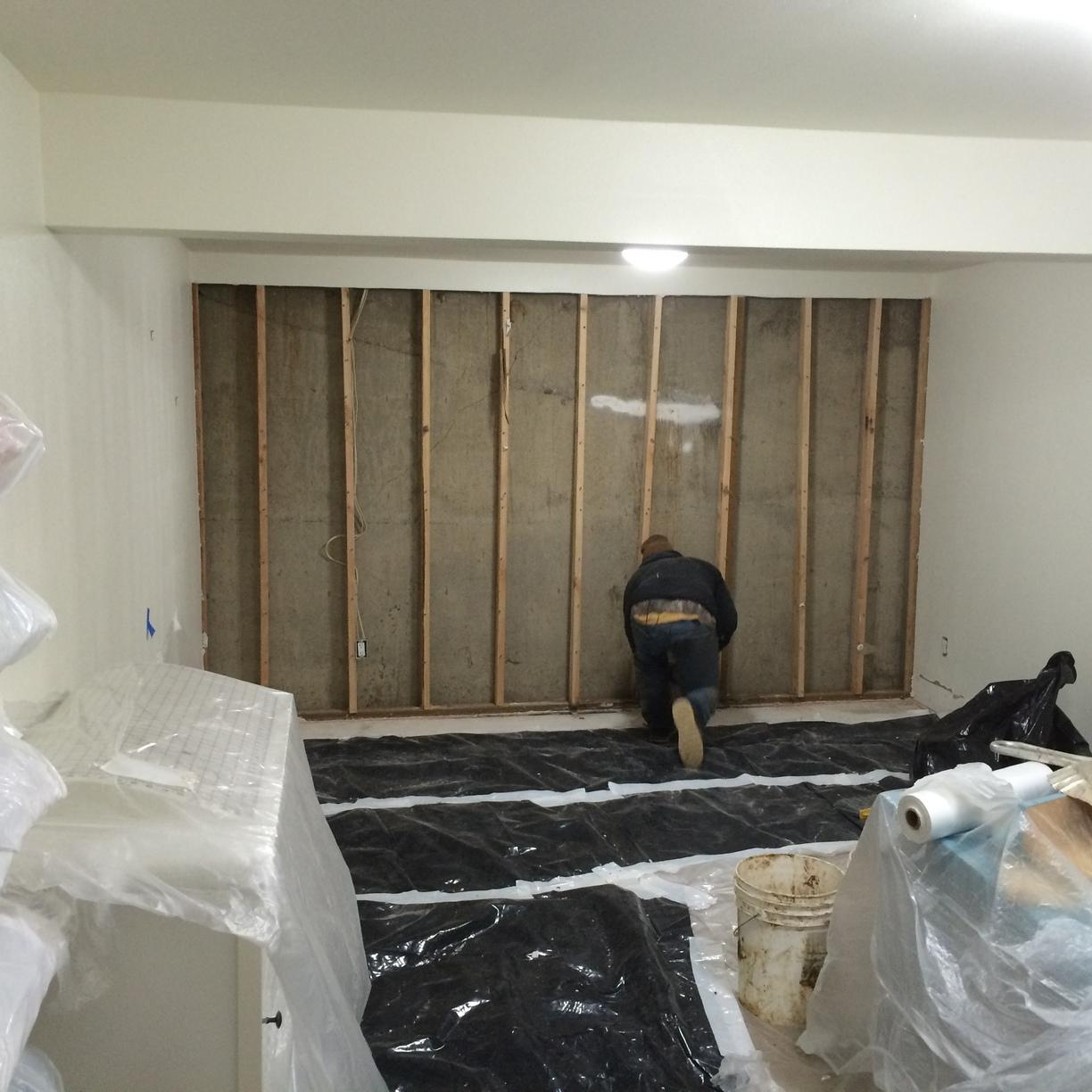 Marylhurst, OR Basement gets Thermaldry Walls Installed - Before Photo