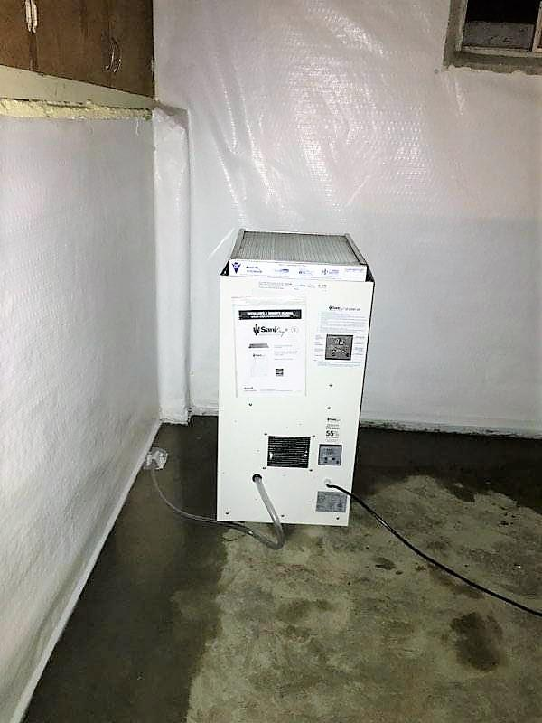 SaniDry XP Dehumidifier in Stayton, OR Basement - After Photo