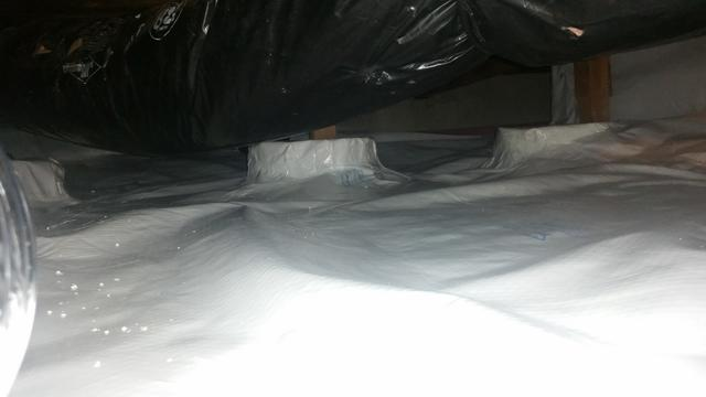 Flooded crawlspace in Fairview Oregon