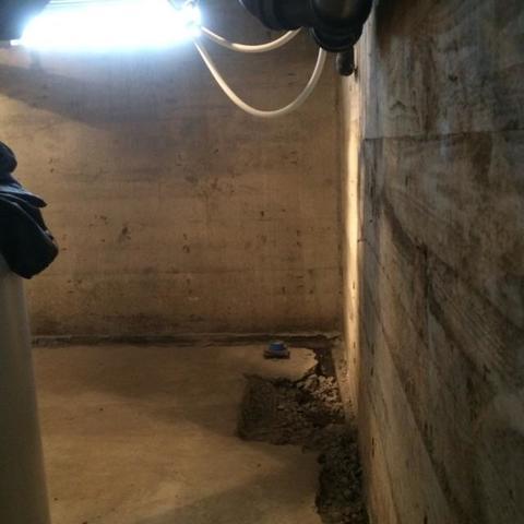 Camas, WA Basement Waterproofing Job