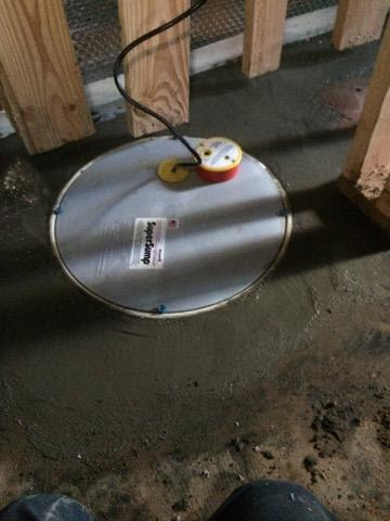 Pacific City, OR Basement gets a Sump pump Installed