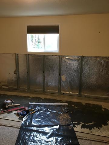 Basement Wall Finishing; Amity, OR - Before Photo