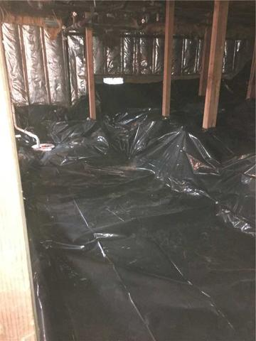 Drainage System in Crawl Space; Tigard, OR