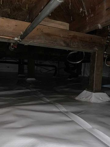 Wet crawlspace cleanup in Eugene Oregon - After Photo