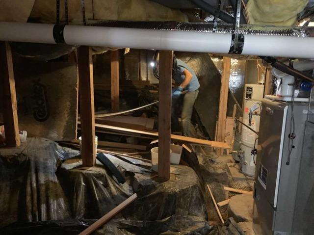 Waterproofed Crawl Space in Beaverton