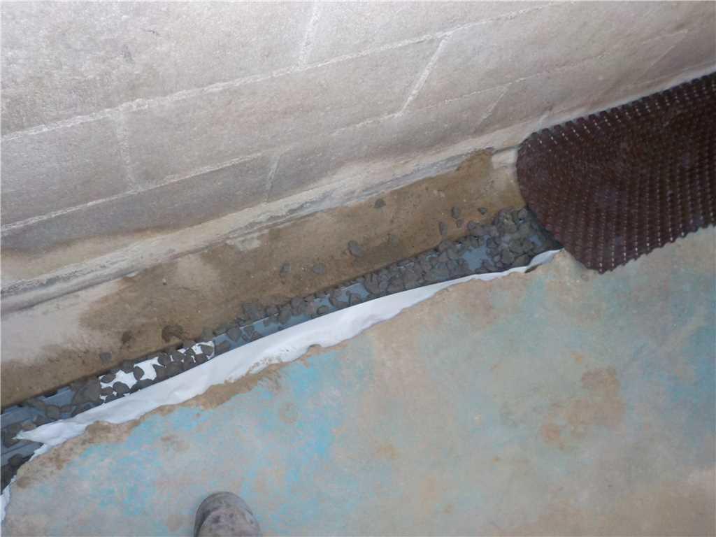 Le drain intérieur WaterGuard se fond dans le décor - After Photo
