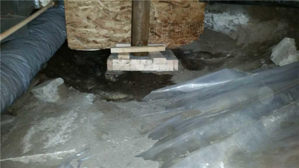 Crawl Space repaired in Gatineau, Qc - Before Photo