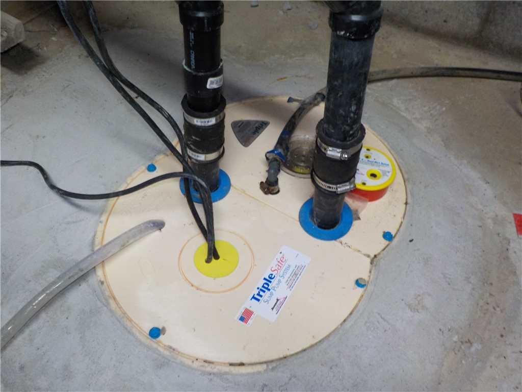 Une vieille pompe de puisard remplacée par une TripleSafe à Boisbriand! - After Photo