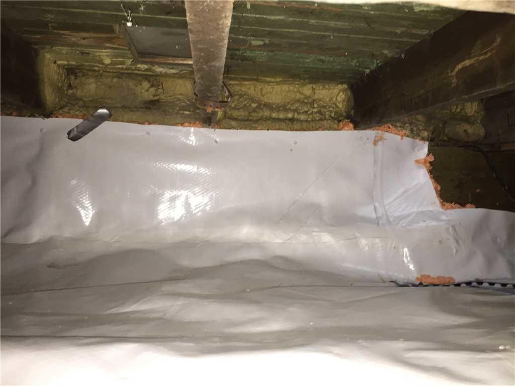 Infiltrations d'eau dans un vide sanitaire à Saint-Zotique - After Photo