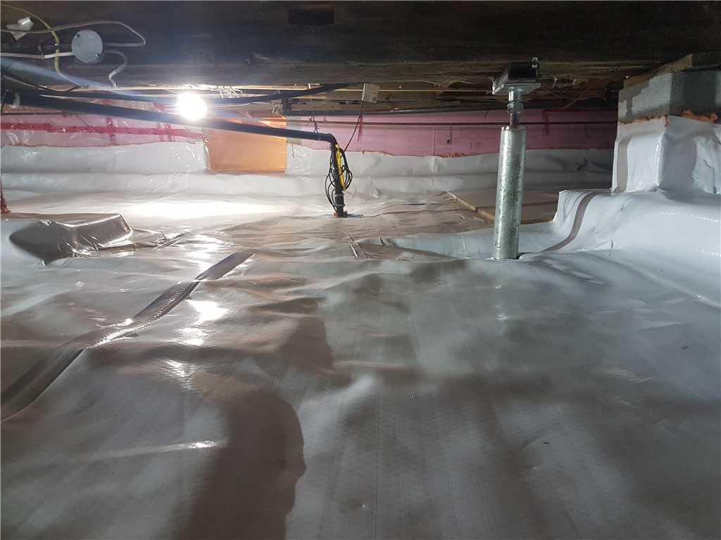 Encapsulation, imperméabilisation et stabilisation d'un vide sanitaire à South Glengarry, Ontario - After Photo