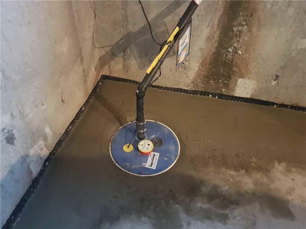 Un changement de système de pompe de puisard à Sainte-Martine - After Photo