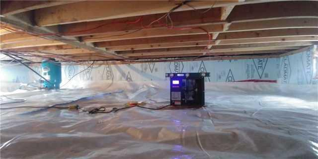 Encapsulation of a wet crawl space in Saint-Anicet. - After Photo