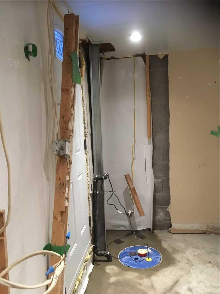 Des fissures réparées et un sous-sol imperméabilisé à Montréal - After Photo