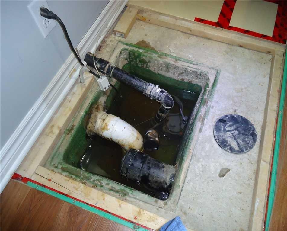 Installation d'une pompe TripleSafe à Blainville, Qc - Before Photo