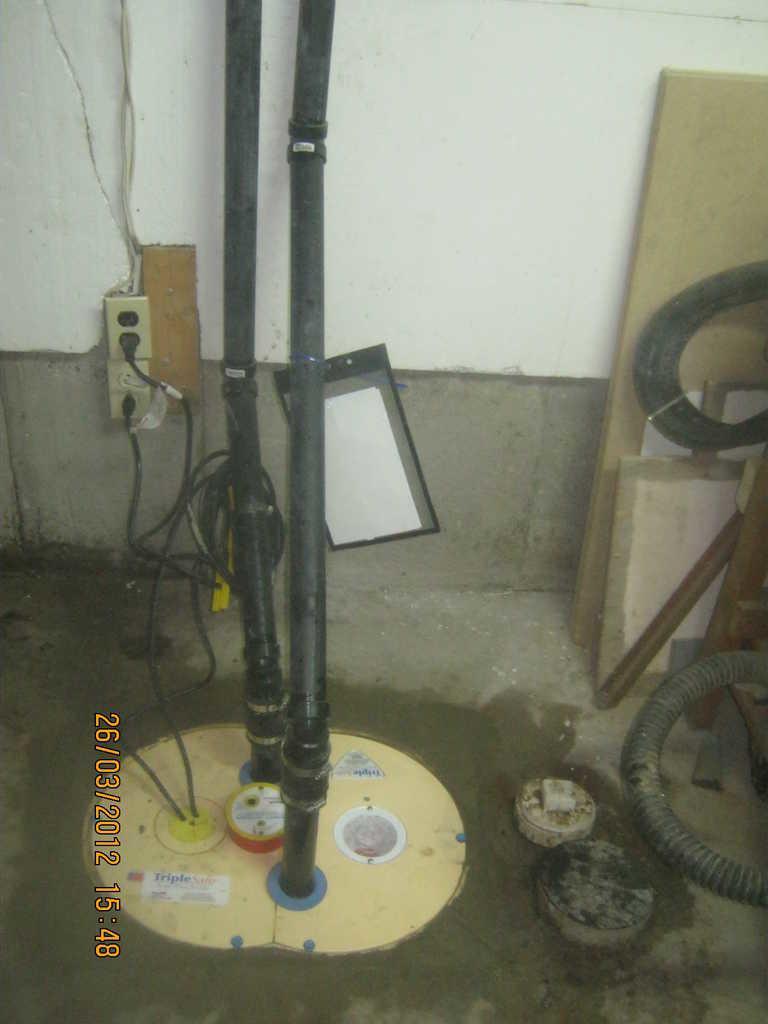 Pompe de puisard - After Photo