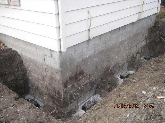 Foundation Stabilization in Pincourt, Canada
