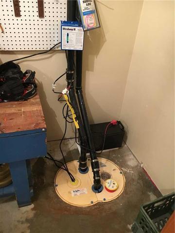 Infiltrations d'eau dans un sous-sol fini à Hudson! - After Photo