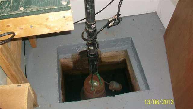 Un changement de pompe de puisard à Pincourt