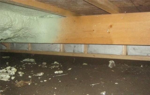 Un vide sanitaire propre grâce au CleanSpace à Sainte-Dorothee